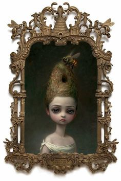 View Queen Bee by Mark Ryden on artnet. Browse more artworks Mark Ryden from Kohn Gallery. Mark Ryden, Arte Lowbrow, No Ordinary Girl, Arte Grunge, Bee Painting, Artist Painting, Painting Frames, Bee Art, Tim Walker