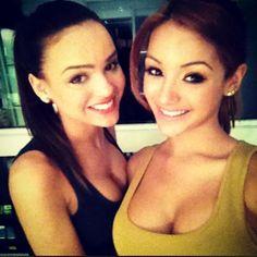 MTV2 models Lisa Ramos and Melanie Iglesias