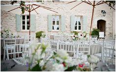 Rustic farmhouse wedding venue in Provence via French Wedding Style
