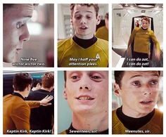 "Chekov-- Russian word for ""adorable""? --He. Was. So. Cute. <--- haha. Star Trek."
