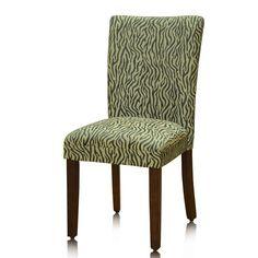 elegant brown/ golden damask parson chairs (set of 2) | damasks