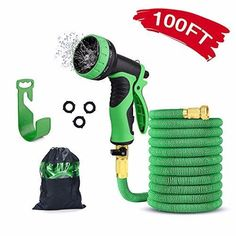 Garden Hose with 9 Function High-Pressure Spray Nozzle Garden Hose, Garden Tools, Tree Seeds, Basic Tools, Love Garden, Water Flow, Garden Seeds, Outdoor Power Equipment, Gifts