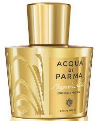 "Acqua di Parma Magnolia Nobile  coming soon from Acqua di Parma, a special edition of Magnolia Nobile: ""With decorative motifs inspired by the aesthetics of Art Deco jewellery, the entire surface of the signature bottle features a 24k gold accent etched with a delicate sinuous motif."" Launching in August in 100 ml. (via fashioninsight.co.uk)"