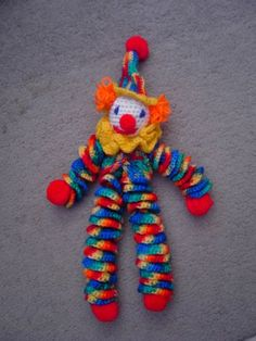 I had one of these when I was a kid.  Someone made it and my mom bought it from her.  It's kinda creepy, eh?
