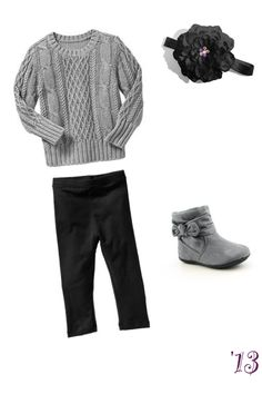 18fea4d30 Grey sweater, black leggings, headband and super cute boots for a super cute  girl toddler!
