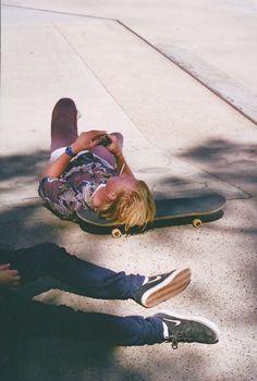 Smokin skater.... Literally and figuratively