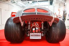 Rear view of the hot rod VW