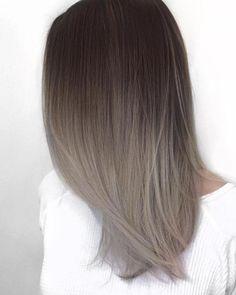 Ash Grey Sombre Hair