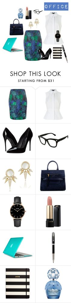 """Office"" by regnovo on Polyvore featuring Dickins & Jones, Alexander Wang, Dolce&Gabbana, Valentino, Marc Jacobs, CLUSE, Lancôme, Speck, Parker and Kate Spade"