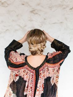Super easy formal wedding or special occasion hairstyle! This tutorial is for a braided updo that's simple enough to do yourself!