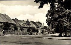 Ansichtskarte / Postkarte Glöwen Plattenburg in Brandenburg, Blick auf den Dorfplatz