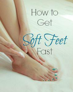 It's summer- get soft feet fast! via www.yourbeautyblog.com