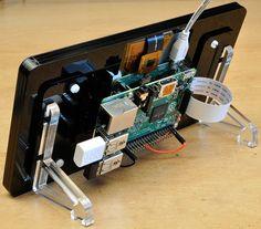 Pimoroni case for Raspberry Pi DSI display - rear