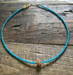 High quality rubies on 18k solid gold nugget set on rare grade AA Sleeping Beauty Turquoise gemstones. The perfect pop of colour for your gorgeous neck line! One of a kind. Exclusively to the Jugar N
