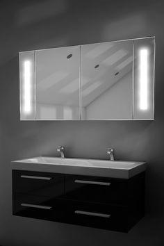 Zabel LED Sensor Cab | Large | H:600mm x W:1200mm x D:140mm - Illuminated Mirrors