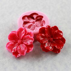 Flower Mold Big and Bold Silicone Mold resin, polymer clay, pmc, jewelry, chocolate, fondant, candy (296)