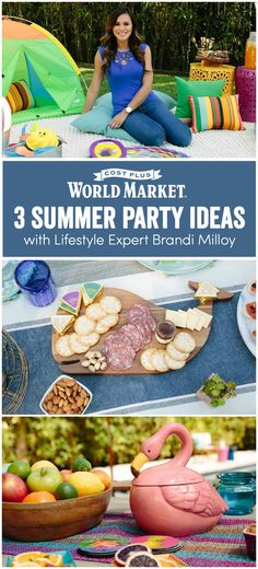 Pick from 3 party themes curated by lifestyle expert Brandi Milloy, who created something fun for everyone! www.worldmarket.com #CelebrateOutdoors