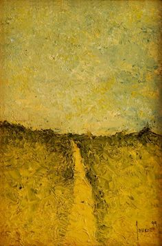El Camino Oleo sobre Tela. 30X20cms. 1999. Jesús Martínez.