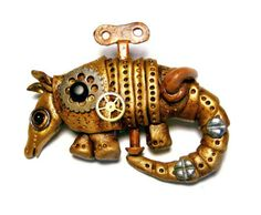 Armadillo SteamPunk Pin Victorian Steam Punk by SweetchildJewelry, $30.00