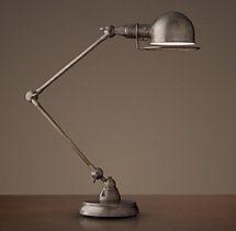 Atelier Task Table Lamp Patina Nickel