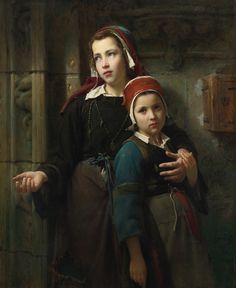 Emile Auguste Hublin (french, born 1830 -) - Sisters -1872