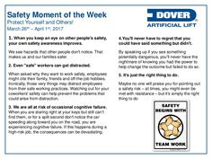 Protect Yourself and Others! Alberta Oil Tool's Moment of the Week Safety Moment Ideas, Safety Moment Topics, Workplace Safety Topics, Safety Quotes, Safety Slogans, Health And Safety Poster, Safety Posters, Teamwork Quotes Motivational, Safety Talk