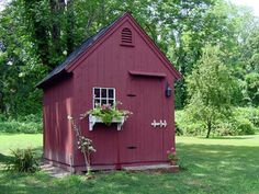 Exterior of Post and Beam Pool & Garden Shed