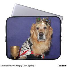 Golden Retriever King Laptop Computer Sleeves