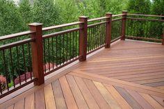 Wrought Iron Deck Railing Ideas View more Deck Railing Ideas http://awoodrailing.com/2014/11/16/100s-of-deck-railing-ideas-designs/