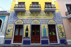 San Juan Puerto Rico Vernacular Typography Polo Norte Fabrica de Sodas Mosaic Calle Tetuan 26
