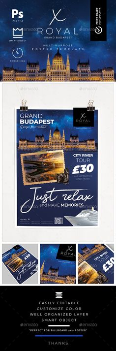 Travel Tour Poster Template - #Signage #Print Templates