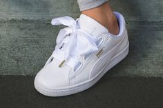 2d7bd0811a8 The All-New PUMA Basket Heart Is Topped With a Satin-Bow