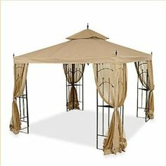 Replacement Canopy for Home Depot's Arrow Gazebo with Rip Lock Technology by Garden Winds. $89.99. This canopy will fit both the Sunjoy Mfg. and Bond Mfg. versions of the Arrow Gazebo.. This gazebo was sold at Home Depot under the name Arrow Gazebo (Item #61821).. THIS ITEM INCLUDES THE REPLACEMENT CANOPY ONLY. CURTAIN SIDE NETTING NOT INCLUDED.. This beige colored replacement canopy is custom designed for the Home Depot Arrow gazebo model number 61821 or HD-61821. T...