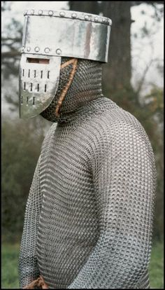 third crusade all mail and pot face helm