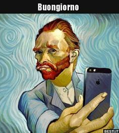 Pop Art, Vincent Van Gogh, Arte Peculiar, Funny Paintings, Watercolor Paintings, Photocollage, Portrait Illustration, Funny Art, It's Funny