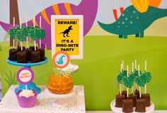 Dinosaurs Birthday Party Ideas | Photo 2 of 20
