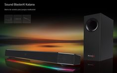 #Multimedia #sonido Sound BlasterX Katana, una excelente barra de sonido para juegos multicanal
