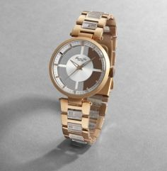 Kenneth Cole Two-tone transparent watch <3