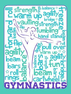 """Gymnastics - Project Life Filler Card by pixiezilla - Scrapbooking ~~~~~~~~~ Size: 3x4"""" @ 300 dpi. This card is **Personal use only - NOT for sale/resale** Clipart from www.clker.com . Fonts are Shark Random Funnyness 2 www.dafont.com/shark-random-funnyness-2.font and Nebraska www.dafont.com/nebraska.font ***"""
