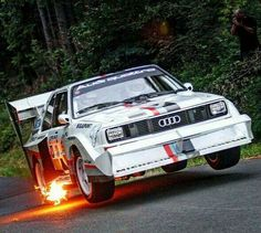 Making flames. #Racing #Speed #Power #Audi #Action