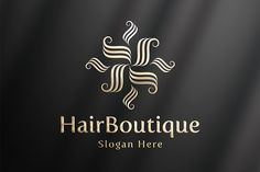 HairBoutique - Luxury Logo Template Templates An Luxury & Elegant Logo Template was crafted with fine attention to details. Highly suitable fo by PenPal Business Brochure, Business Card Logo, Creative Artwork, Creative Logo, Luxury Logo, Elegant Logo, Graphic Design Software, Logo Templates, Design Templates