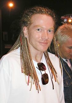 Guns N Roses singer Axl Rose poses at the Rainbow Bar & Grill, June 16th, 2003 in West Hollywood California.