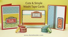 Washi Tape Cards Boardwalk Carnival #ctmh #cricutexplore #scraptabulousdesigns