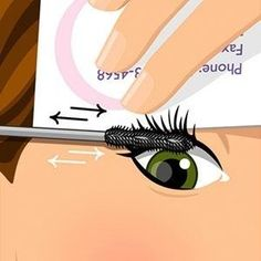 Use a business card to pull your lid up so you can get the mascara right to the base of your lashes. | 41 Life-Saving Beauty Hacks Every Girl Should Have In Her Arsenal