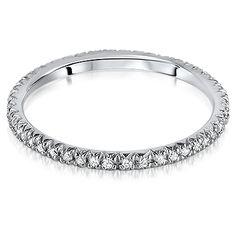 SIENNA Micro Set Brilliant Cut Full Eternity Rings from Hatton Jewels
