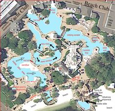 Extremely detailed map of Stormalong Bay at Disney's Yacht and Beach Club Resort
