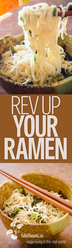 Making quick inexpensive meals by transforming instant ramen with your own ingredients. It can even be completely vegan friendly! #vegan #ramen #noodles