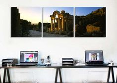 Facade of a temple, Hadrian Temple, Ephesus, Turkey By Panoramic Images Canvas Print - iCanvas.com