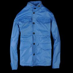 J. Press York St. Rain Jacket in Pale Blue