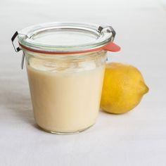 Hjemmelavet sukkerfri lemon curd - Fru Kofoeds Køkken #lemoncurd #sukkerfri #nosugar